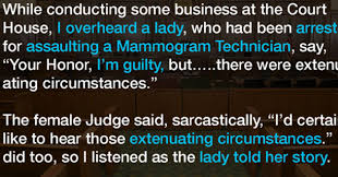 Extenuating Circumstances She U0027s Guilty Of Assault But Tells Judge There Were U0027extenuating