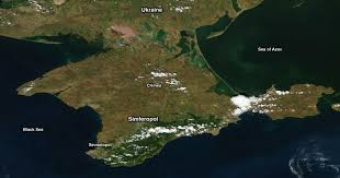 Map Of Ukraine And Crimea Crimea As Seen In Satellite Images Imageo