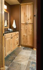 sumptuous interceramic tile in bathroom rustic with knotty pine
