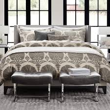Floral Ottoman Printed Ottoman Floral Linen Bedding Williams Sonoma