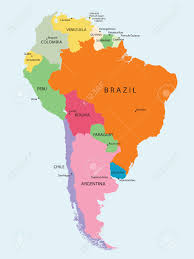 Map Of South Detailed Map Of South America Vector Royalty Free Cliparts