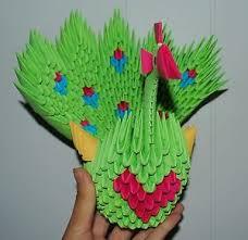 Paper Craft Home Decor 3d Origami Peacock Bird Animal Paper Craft Home Decor Holiday Gift