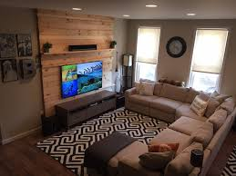 contemporary living room with hardwood floors u0026 high ceiling