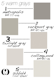 5 warm grays add to that behr silver drop and glidden silver
