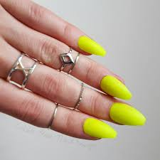 neon yellow lime matte glossy fake press on nails stiletto