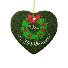 25th wedding anniversary christmas ornament 16 best 25th anniversary christmas ornaments images on