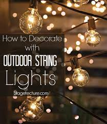 outdoor string light chandelier creative ways to decorate with outdoor string lights