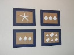 brandy u0027s creations diy sea shell and burlap wall art