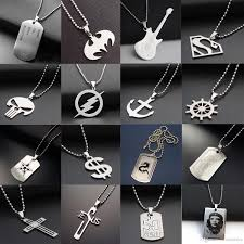 man charm necklace images Wholesale fashion stainless steel 316l army dog tag men necklace jpg