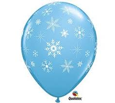 snowflake balloons 12 light blue 11 balloon with falling white