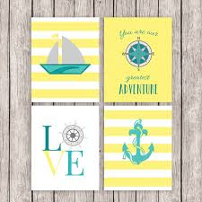 Aliexpresscom  Buy Nautical Advernture Yellow Canvas Painting - Canvas art for kids rooms