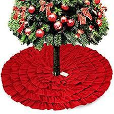 christmas skirt burlap ruffled christmas tree skirt 48 inches