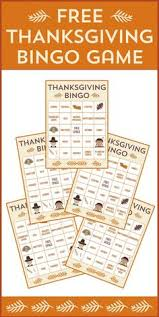 free printable thanksgiving bingo cards party activities free