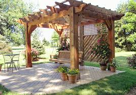 Swing Arbor Plans Surprising Terrific And Enchanting Pergola Pillars Green Grass
