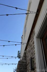 Hanging Patio Lights String Outdoor Style How To Hang Commercial Grade String Lights Patio