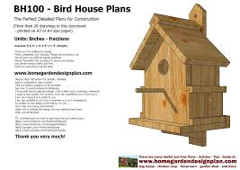 Building Plans Homes Free Home Garden Plans Home Garden Plans Bh100 Bird House Plans