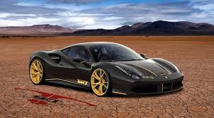 car ferrari gold ferrari 488 gtb rendered with custom gold wheels