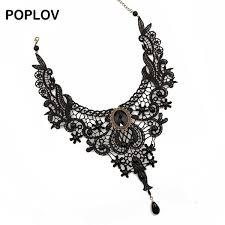 choker collar necklace vintage images Poplov vintage black white lace choker necklace charm ribbon jpg