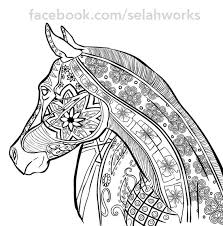complex horse coloring pages background coloring complex horse