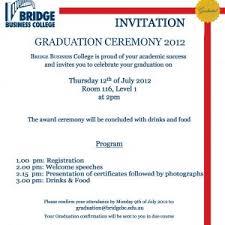 graduation ceremony invitation sle invitation letter for awards ceremony fresh graduation