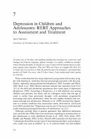 Counselor Treatment Manual Pdf Depression In Children And Adolescents Rebt Approaches To