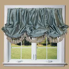 Blue Valances Window Treatments Silk Balloon Valance Made With Silk Dupioni In Bluestone And