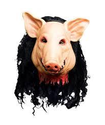 Saw Costume Unisex Saw Pig Head Mask Saw U0026 Saw Ii Halloween Fancy Dress