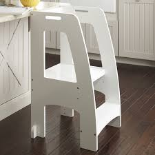 furniture folding wooden step stool with oak wood material on