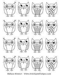 owl images to color or make your own stickers or print