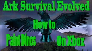 ark survival evolved how to paint dinos on xbox ps4 youtube