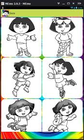 coloring game dora draw android apps google play