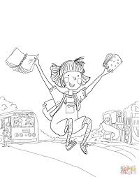 amelia bedelia first day of coloring page free printable