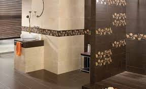 tile designs for bathroom walls bathroom tile design brown floral wall accent decor crave