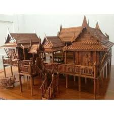 traditional thai teak house model thai home model pinterest