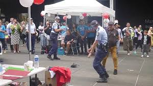 nsw police officer dancing at pcyc event martin place youtube