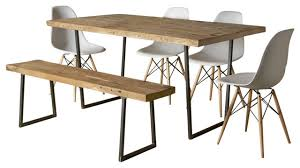brooklyn modern rustic reclaimed wood dining table dining tables