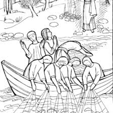 coloring pages of jesus and disciples fishing archives mente