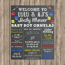 baby shower welcome sign to be chalkboard poster custom chalkboard baby shower