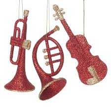 glitter instruments ornaments at the stand