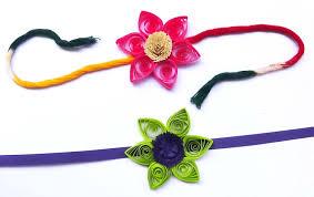 paper quilling handmade beautiful flower rakhi idea you must try