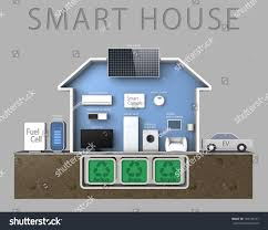 smart house concept powered by fuel stock illustration 104109197