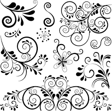 black floral ornament pattern vector vector floral vector