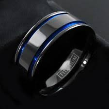 gunmetal wedding band mens gunmetal ring ebay