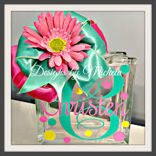 monogram piggy bank monogram piggy bank with flower gf021 designs by michela