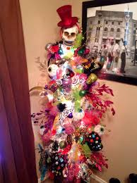 Lighted Halloween Trees Sugar Skull Christmas Tree Unique Something Fabulous
