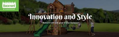 Amazon Backyard Playsets by Amazon Com Backyard Discovery Skyfort Ii All Cedar Wood Swing