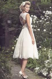 brighton belle mia 1950s retro tea length short lace wedding dress