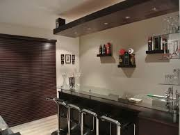 inspiring modern home bar design modern style ideas home bar designs and layouts featuring floating wine shelving and dark brown wooden