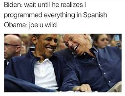 memes of joe biden and obama s imagined trump prank conversations