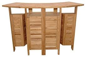 Wine Bar Table with Teak Foldable Bar Table Beach Style Wine And Bar Cabinets By